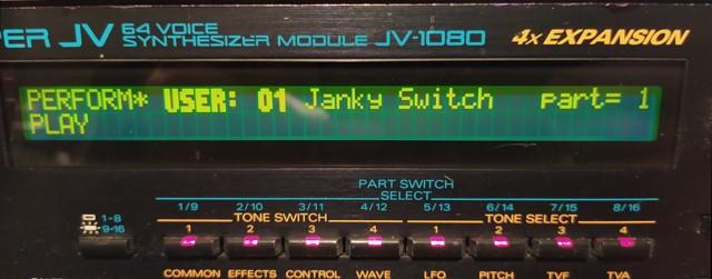 Janky Switch on a Roland JV-1080