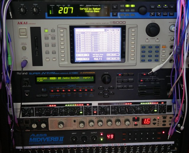 Rack mounted synths and effects